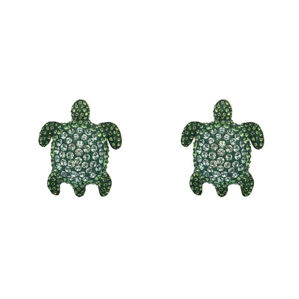 Sea Life Turtle Large Cuff Links – Peridot Green by Atelier Swarovski