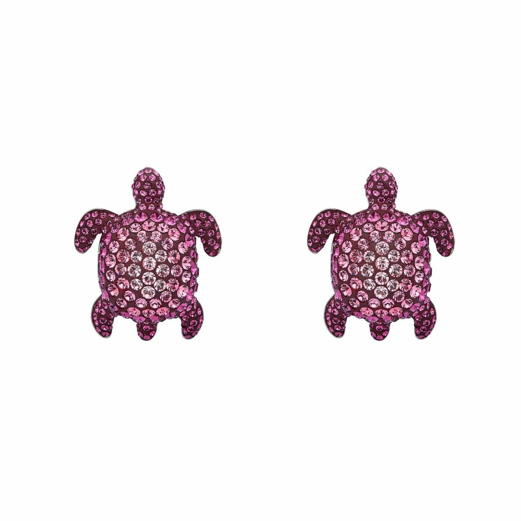 Sea Life Turtle Large Cuff Links – Rose Pink by Atelier Swarovski