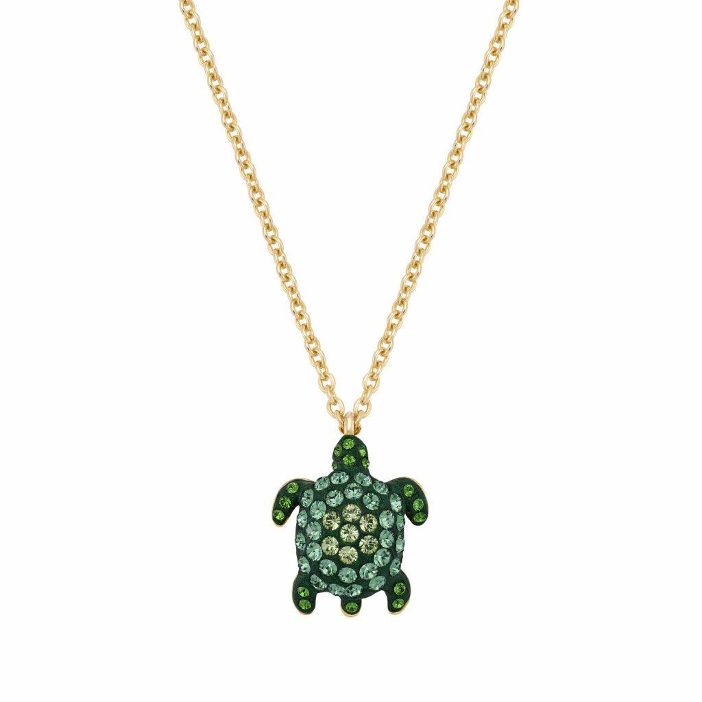 Sea Life Turtle Necklace – Peridot Green by Atelier Swarovski