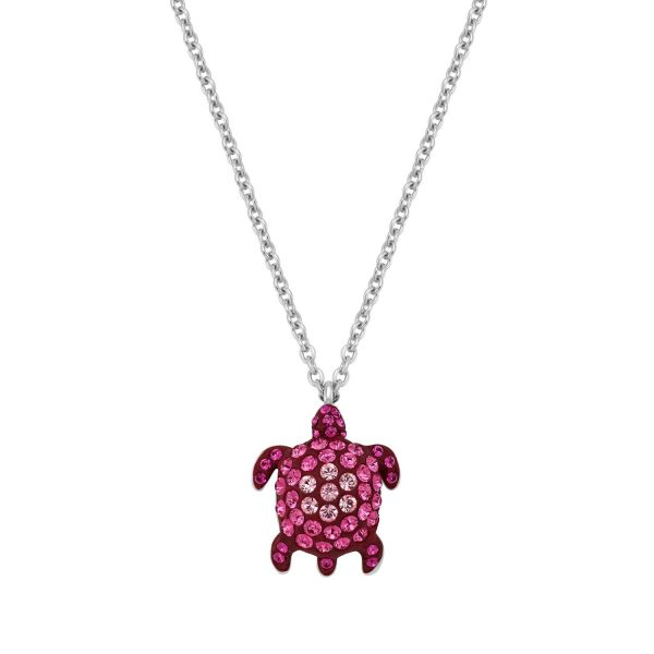 Sea Life Turtle Necklace – Rose Pink by Atelier Swarovski