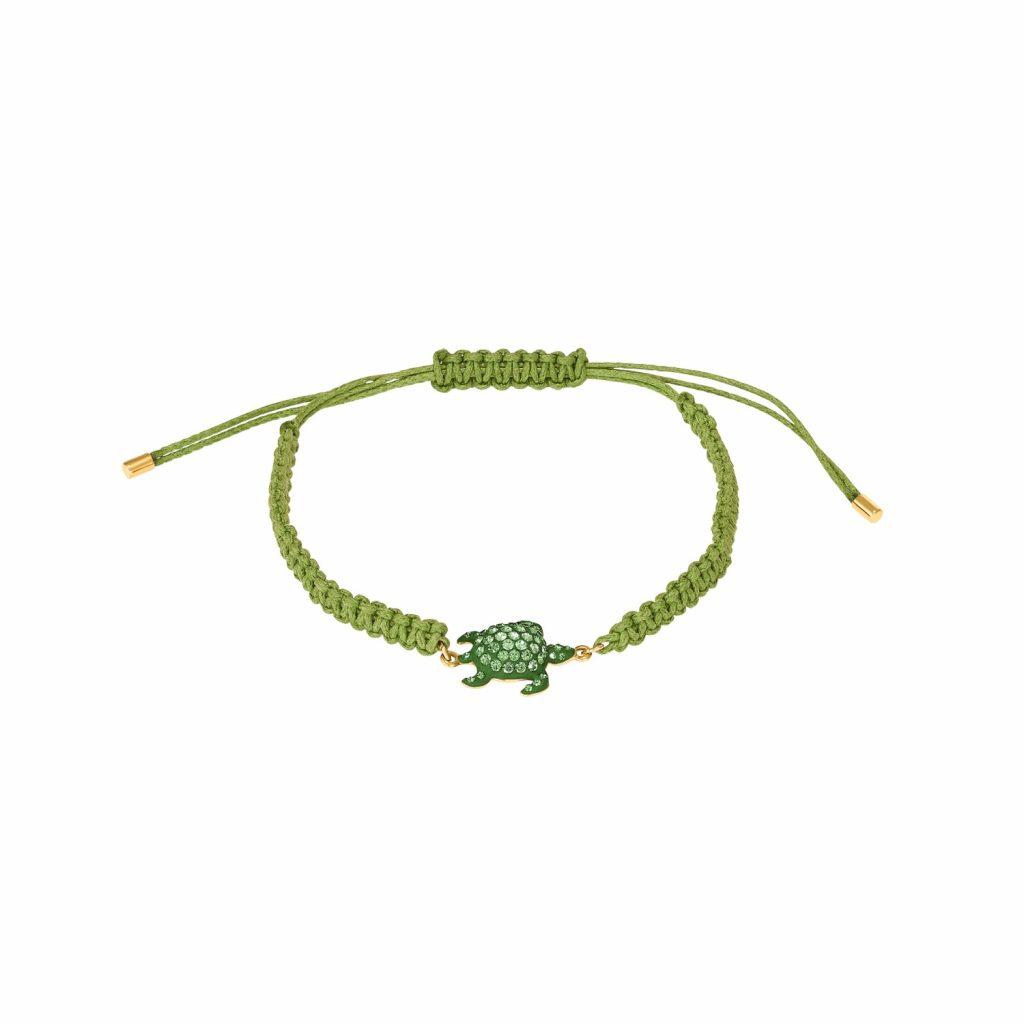 Sea Life Turtle Bracelet – Peridot Green by Atelier Swarovski