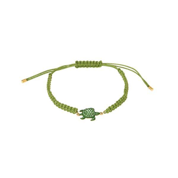 Sea Life Turtle Bracelet Peridot Green by Atelier Swarovski