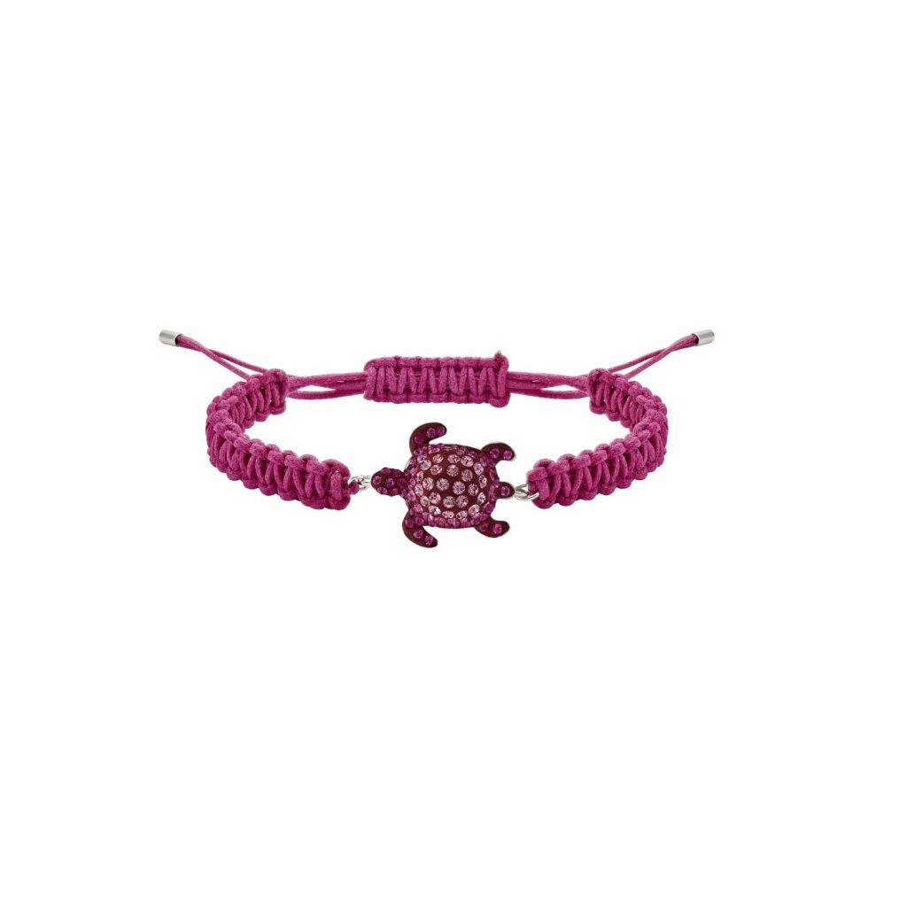 Sea Life Turtle Bracelet – Rose Pink by Atelier Swarovski
