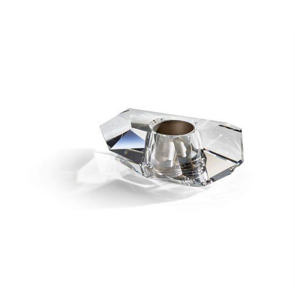 Lustra Medium Candle Holder – Crystal by Atelier Swarovski
