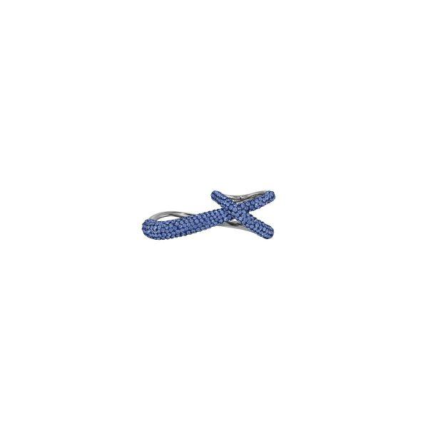 Tigris Double Ring – Sapphire Blue by Atelier Swarovski