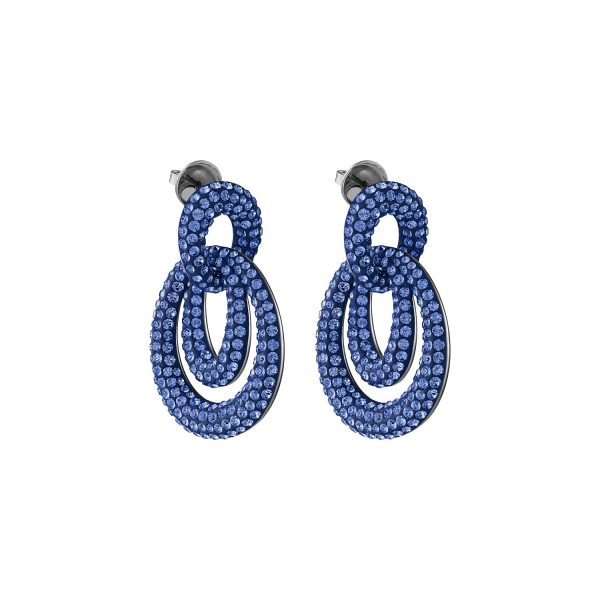 Tigris Drop Earrings Sapphire Blue by Atelier Swarovski