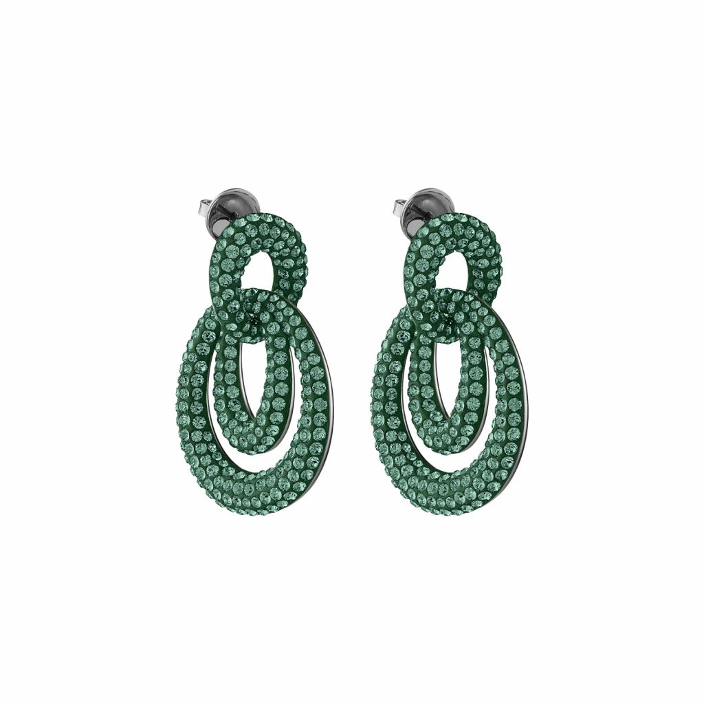 Tigris Drop Earrings – Emerald Green by Atelier Swarovski