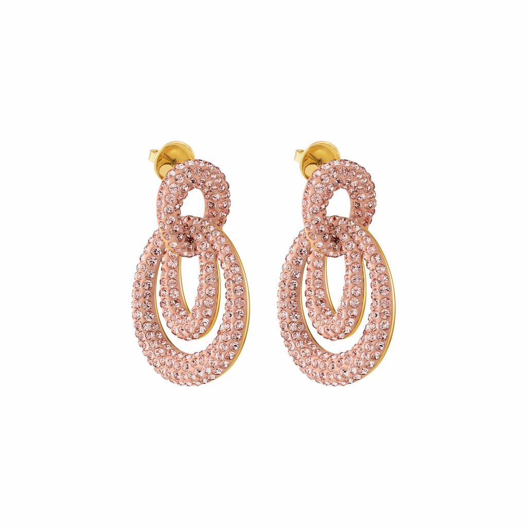 Tigris Drop Earrings – Light Peach by Atelier Swarovski