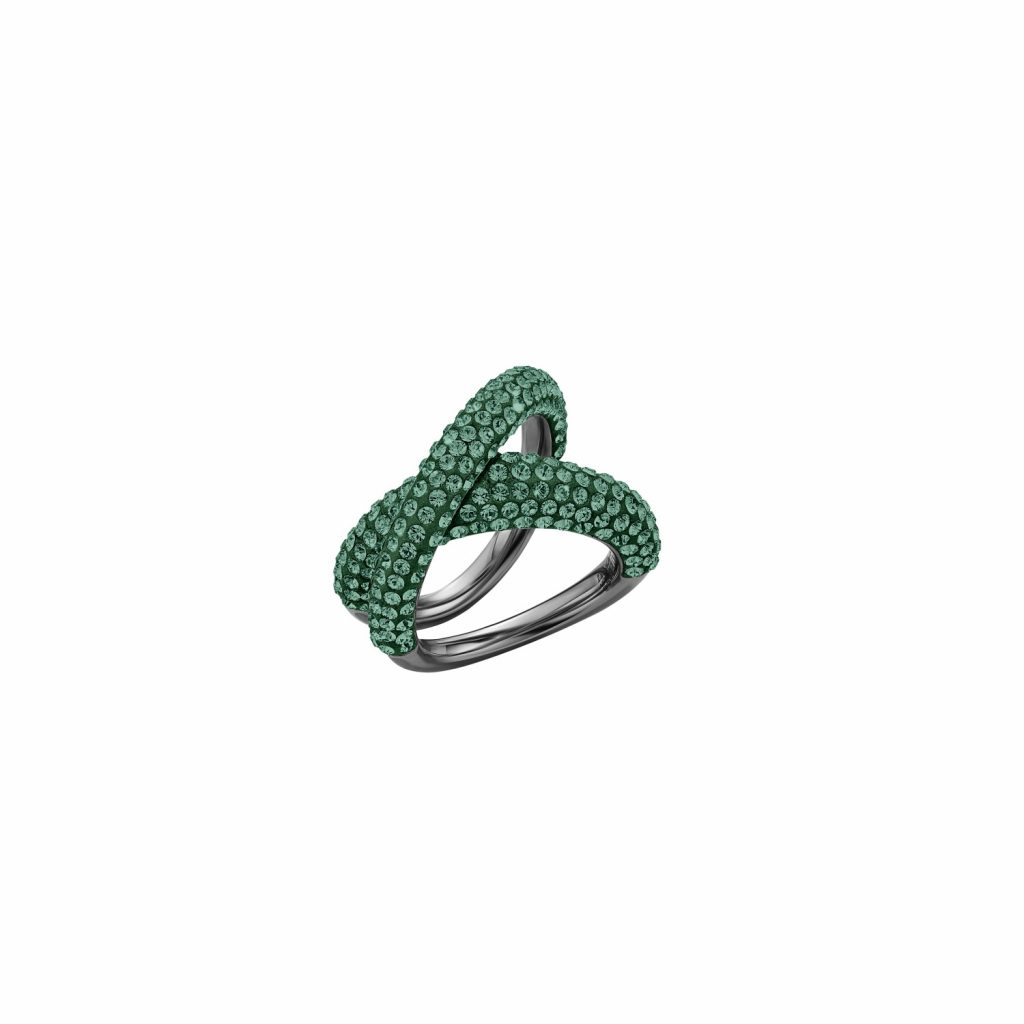 Tigris Simple Ring – Emerald Green by Atelier Swarovski