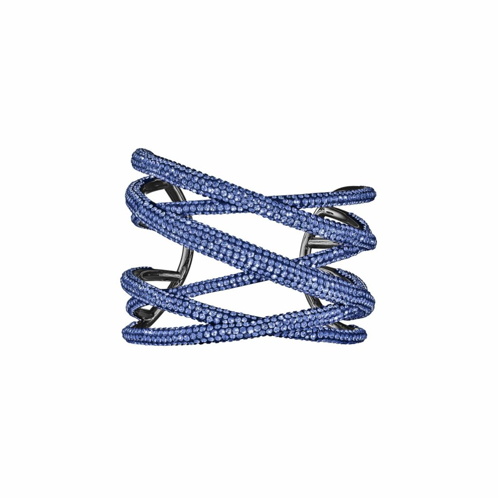 Tigris Statement Cuff – Sapphire Blue by Atelier Swarovski