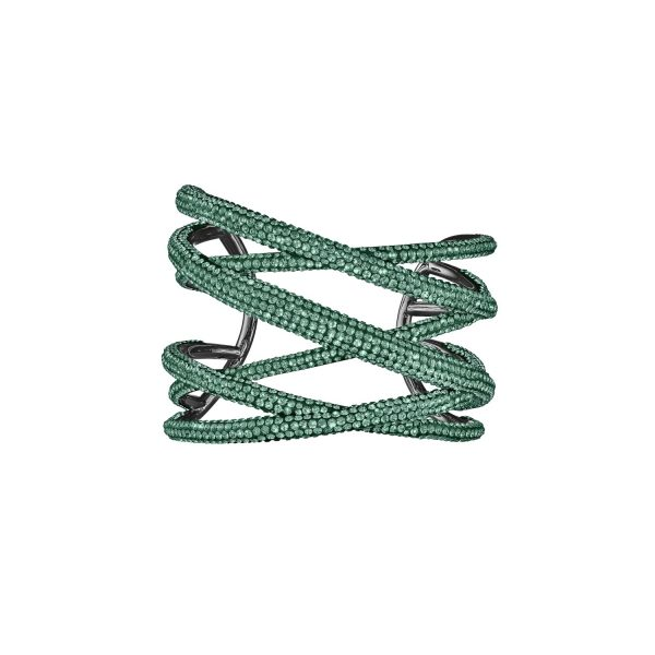 Tigris Statement Cuff – Emerald Green by Atelier Swarovski