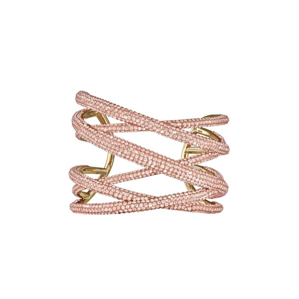 Tigris Statement Cuff – Light Peach by Atelier Swarovski