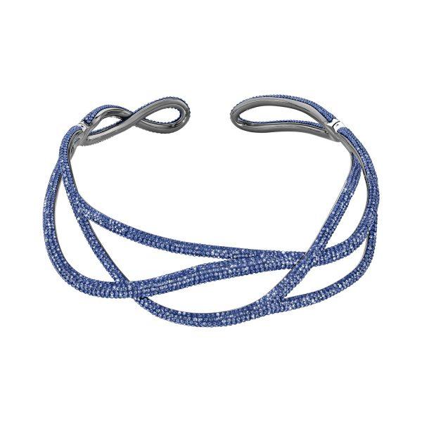 Tigris Statement Necklace – Sapphire Blue by Atelier Swarovski