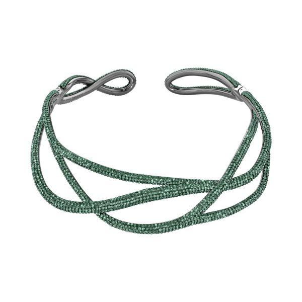 Tigris Statement Necklace – Emerald Green by Atelier Swarovski