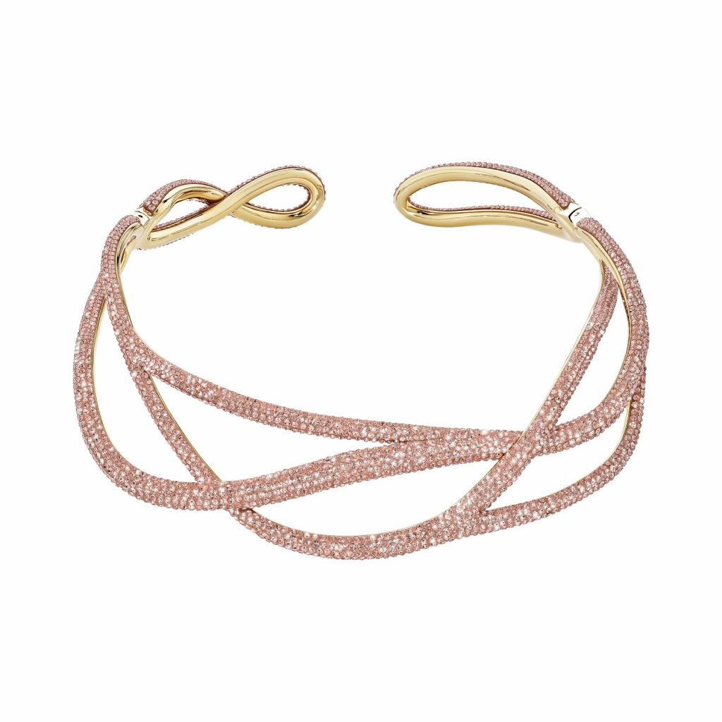 Tigris Statement Necklace – Light Peach by Atelier Swarovski