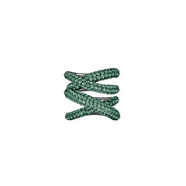 Tigris Wide Ring – Emerald Green by Atelier Swarovski
