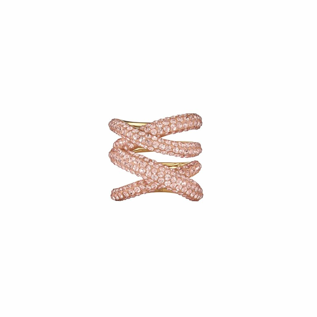 Tigris Wide Ring – Light Peach by Atelier Swarovski
