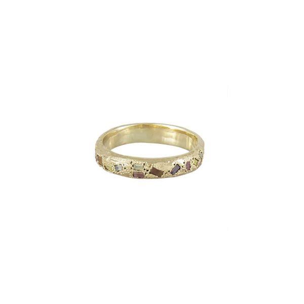 LXIV 4mm Baguette Diamond Eternity Scatter Ring by Ellis Mhairi Cameron