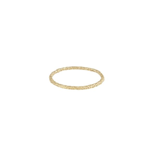 XVII 1mm Textured Gold Wedding Band by Ellis Mhairi Cameron