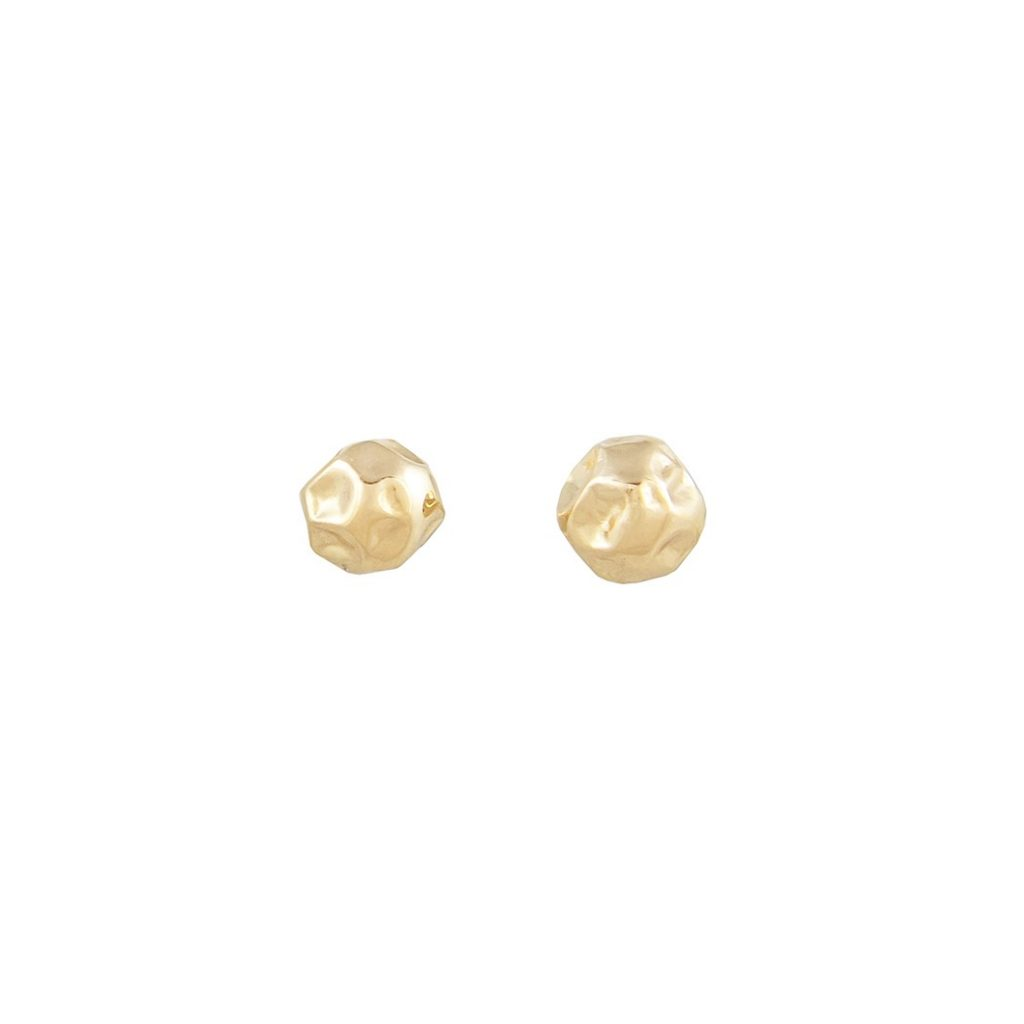 LI Gold 4mm Stud Earrings by Ellis Mhairi Cameron