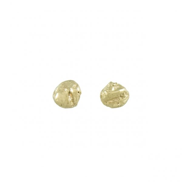 LXXXVIII 4mm Gold Stud Earrings by Ellis Mhairi Cameron