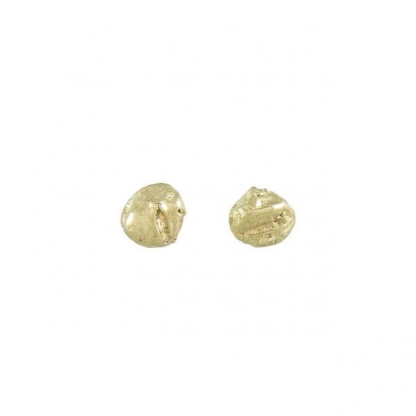 LXXXVIII 3mm Gold Stud Earrings by Ellis Mhairi Cameron