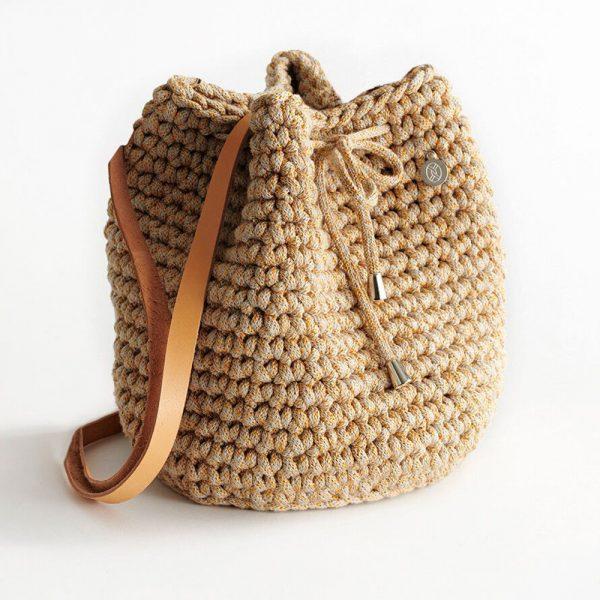 Handmade Bucket Bag – Straw by Iota