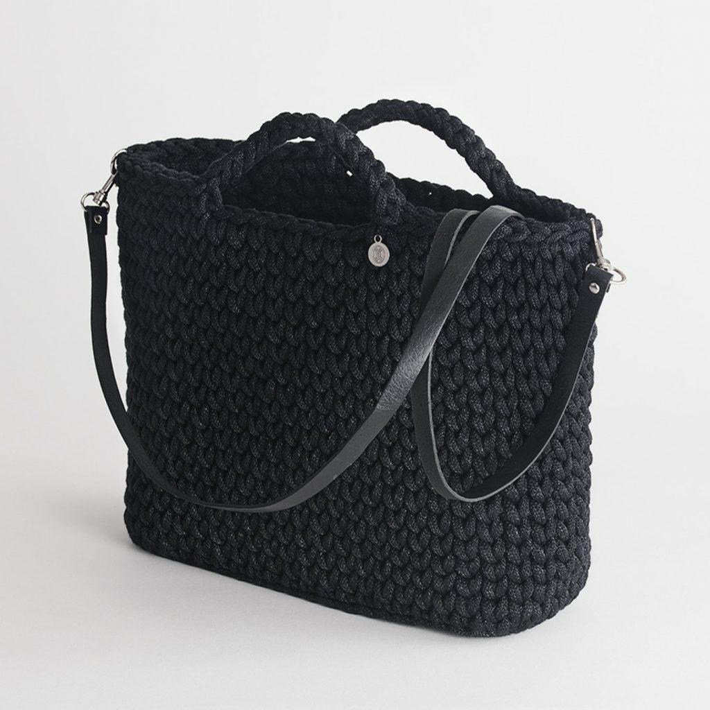 Handmade Basket Bag – Black by Iota