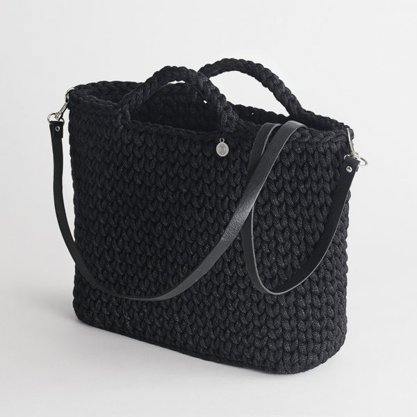 Handmade Basket Bag – Black by Iota