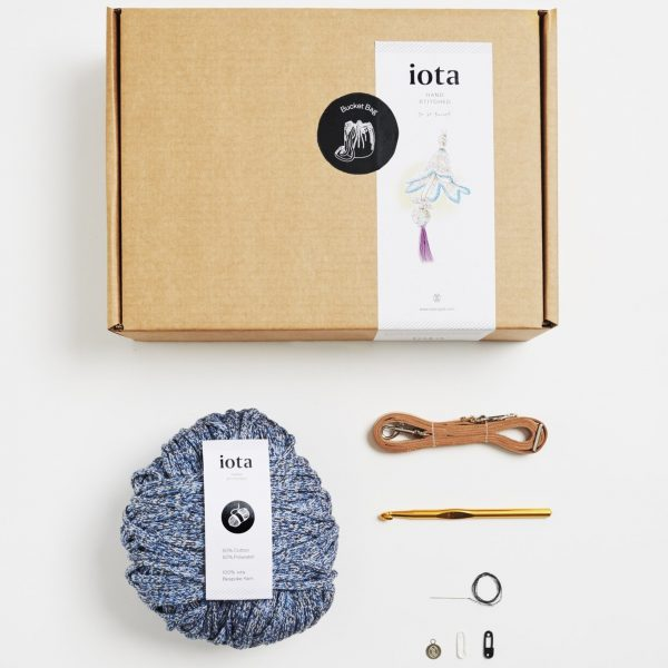 Bucket Bag Crochet Kit – Denim by Iota