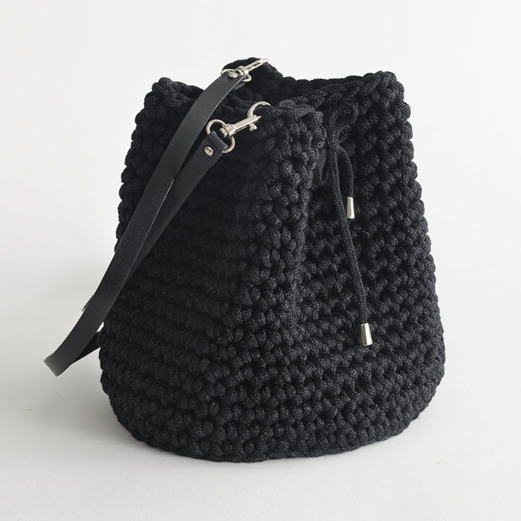 Handmade Bucket Bag – Black by Iota