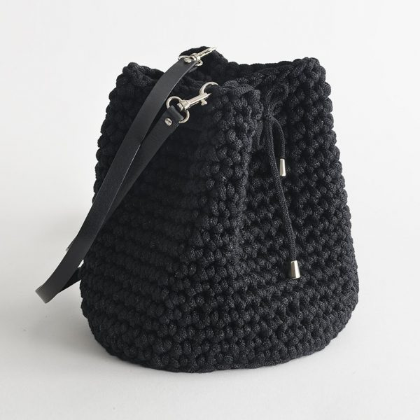 Handmade Bucket Bag – Black by Iota