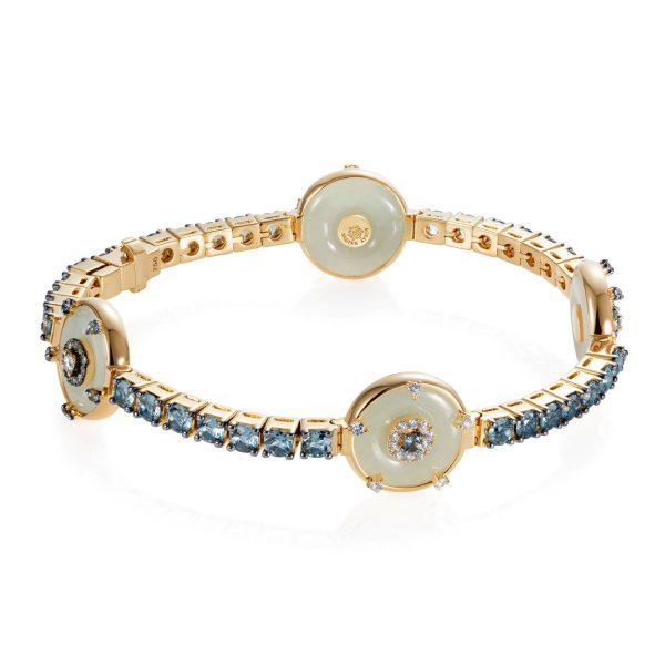 Celeste Aquamarine and Jade Bracelet by Nadine Aysoy