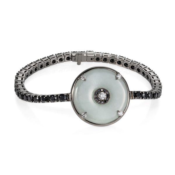 Celeste Black Sapphire and Jade Bracelet by Nadine Aysoy
