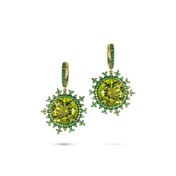 Tsarina Apple Flake Earrings by Nadine Aysoy