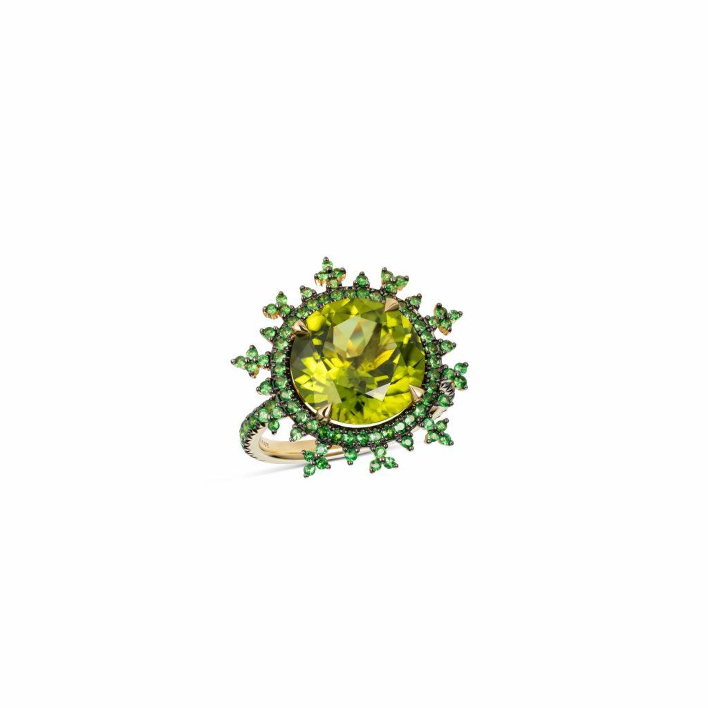 Tsarina Apple Flake Ring by Nadine Aysoy