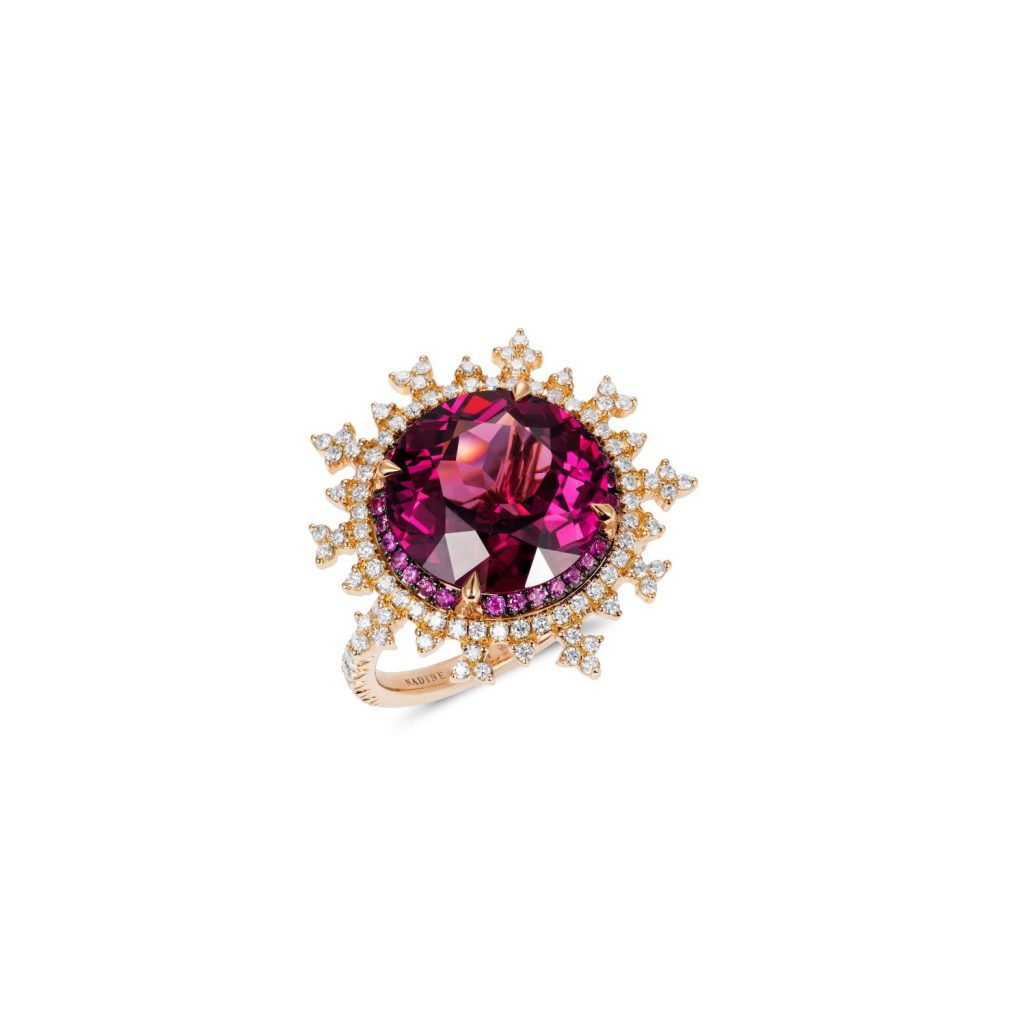 Tsarina Fire Flake Ring by Nadine Aysoy
