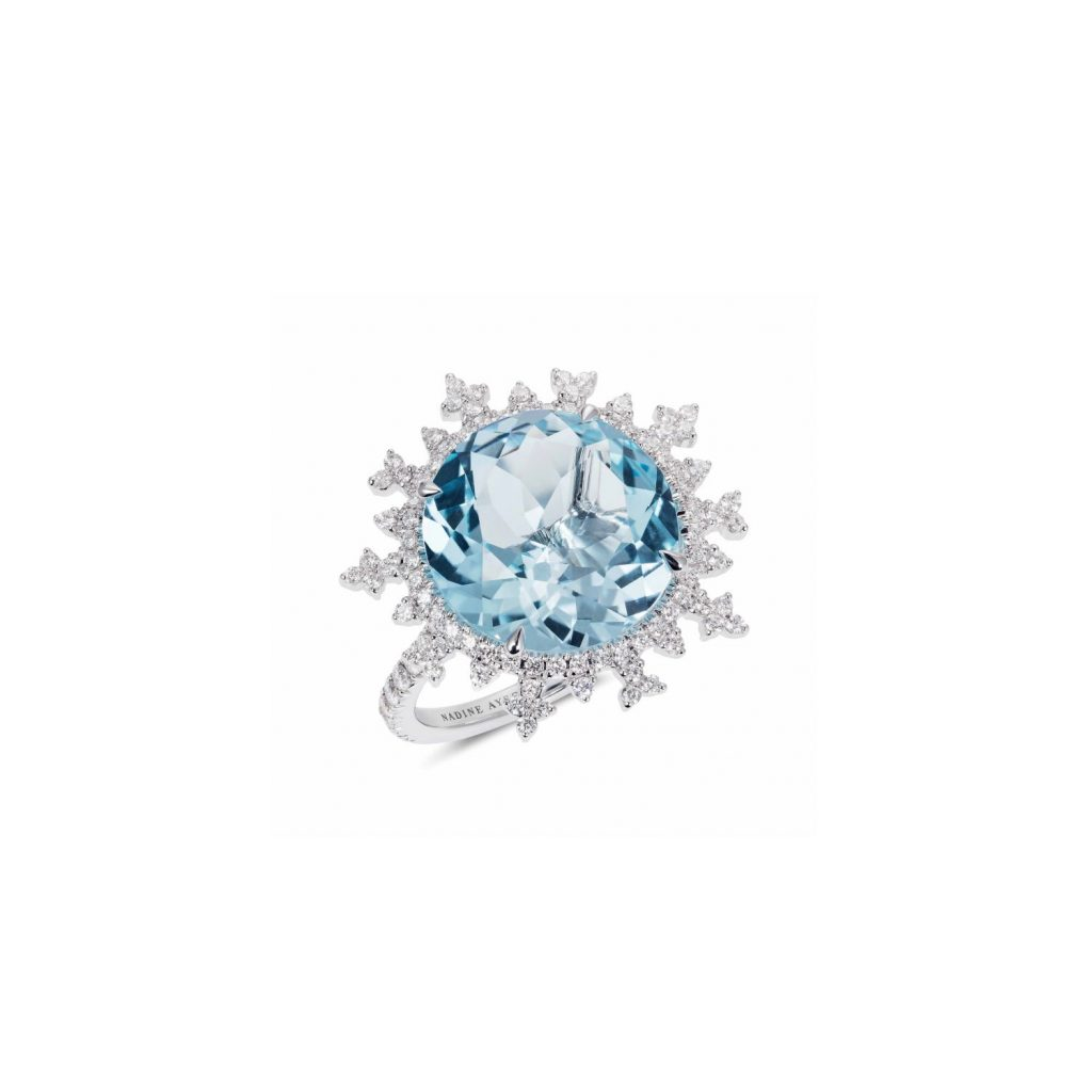 Tsarina Ice Flake Ring by Nadine Aysoy