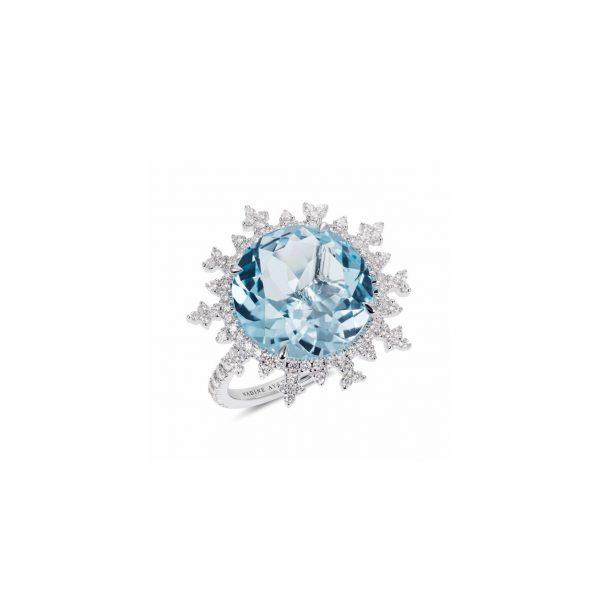 Tsarina Ice Flake Ring by Nadine Aysoy