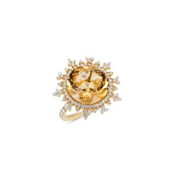 Tsarina Sun Flake Ring by Nadine Aysoy