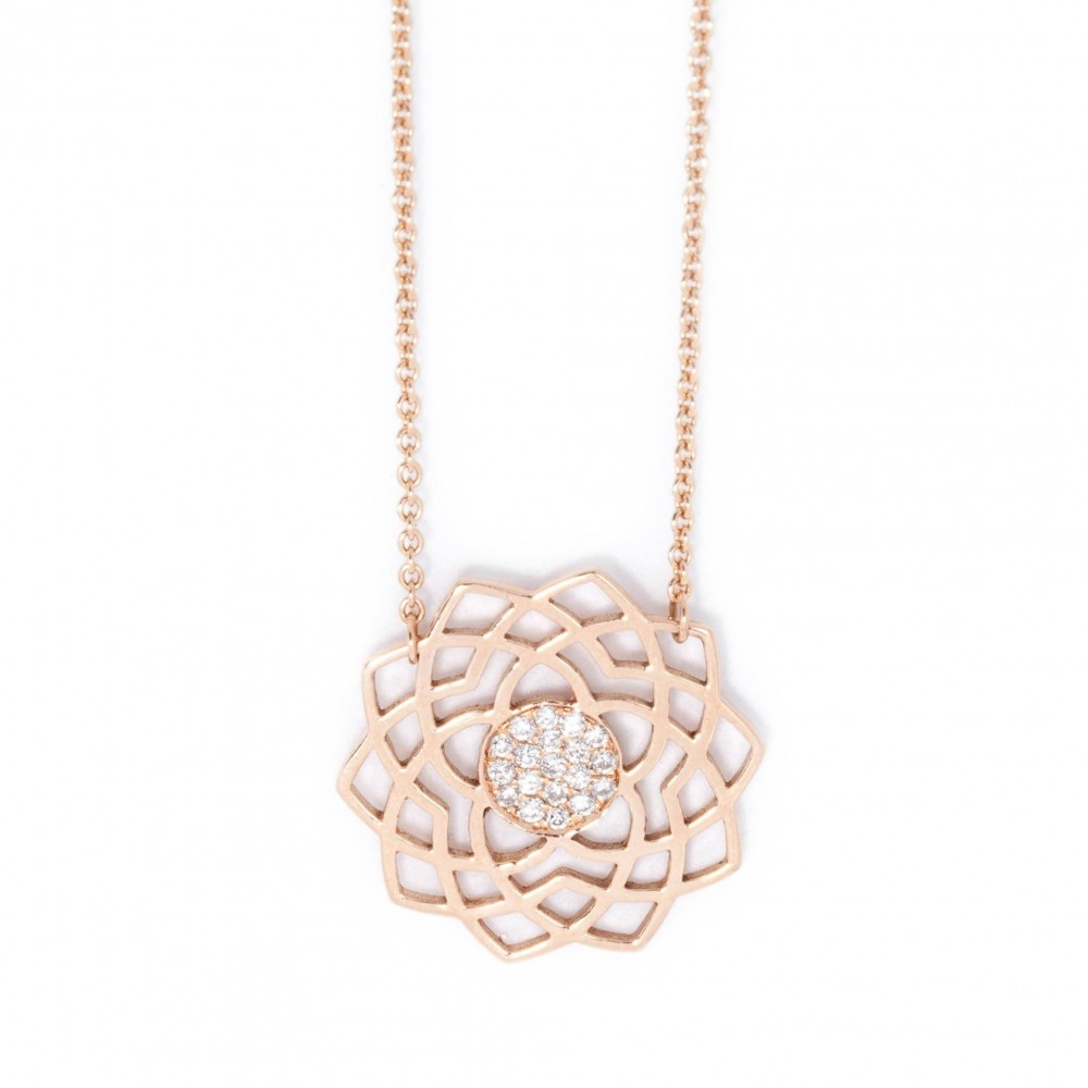 Sahasrara Paved Diamonds Necklace by tinyOm