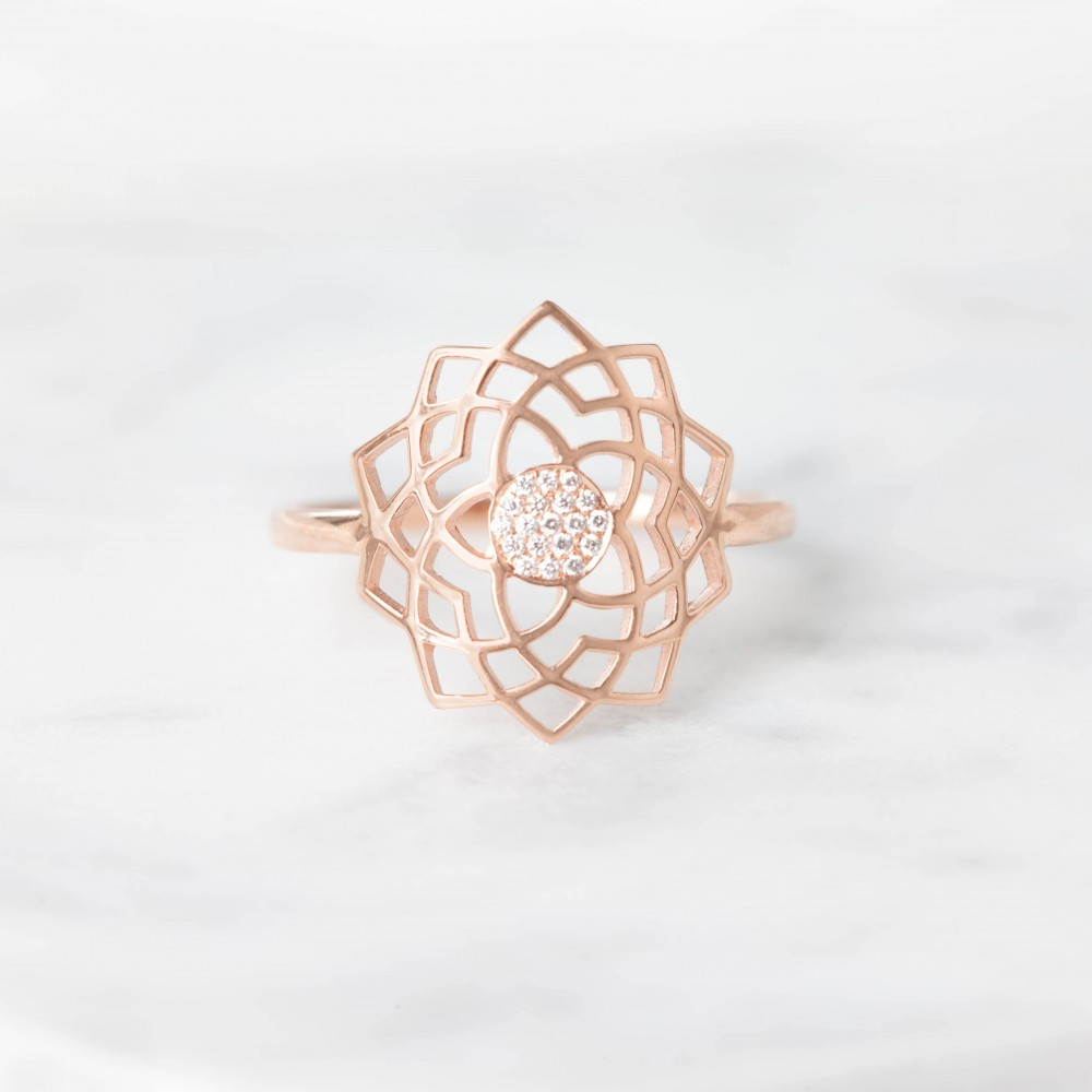 Sahasrara Paved Diamonds Ring by tinyOm