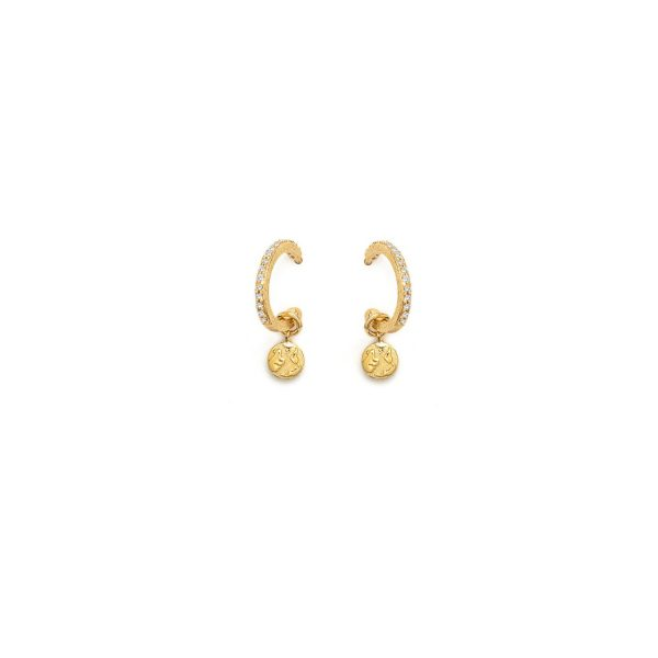 Global Goal #13 – Earth Hoop Earrings by With Love Darling