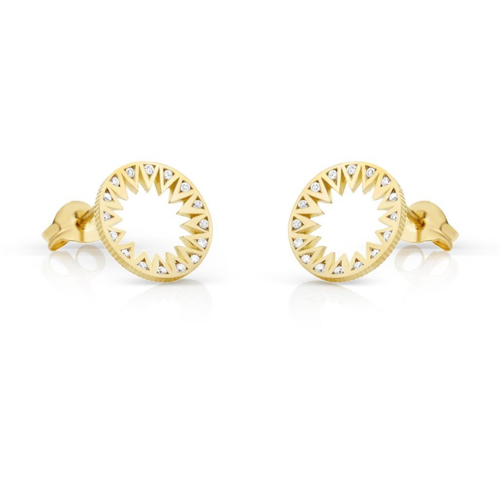 Taxila Gold Diamond Mini Studs by Flora Bhattachary
