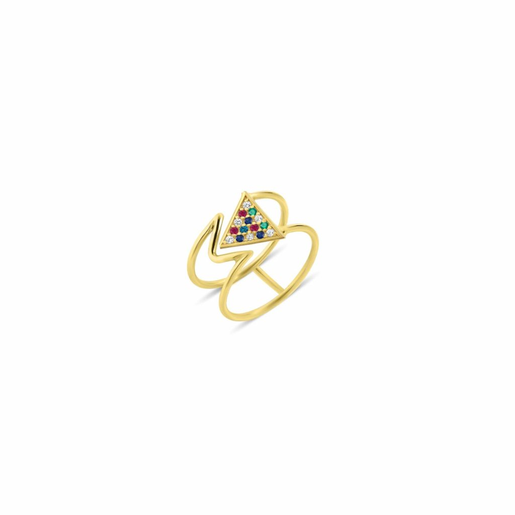 Mara Rainbow Ring by GFG Jewellery