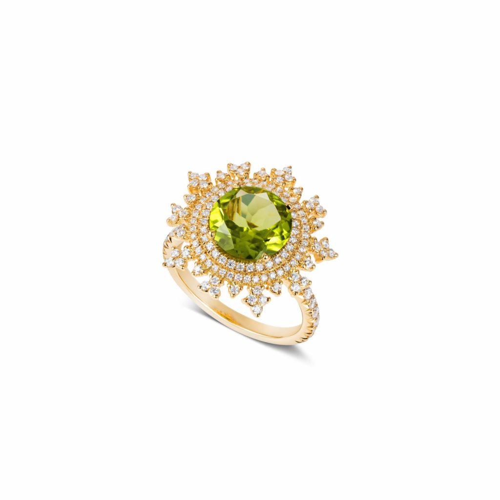 Tsarina Spring Flake Ring by Nadine Aysoy