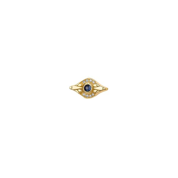 Blue Eye Stud by Azza Fahmy