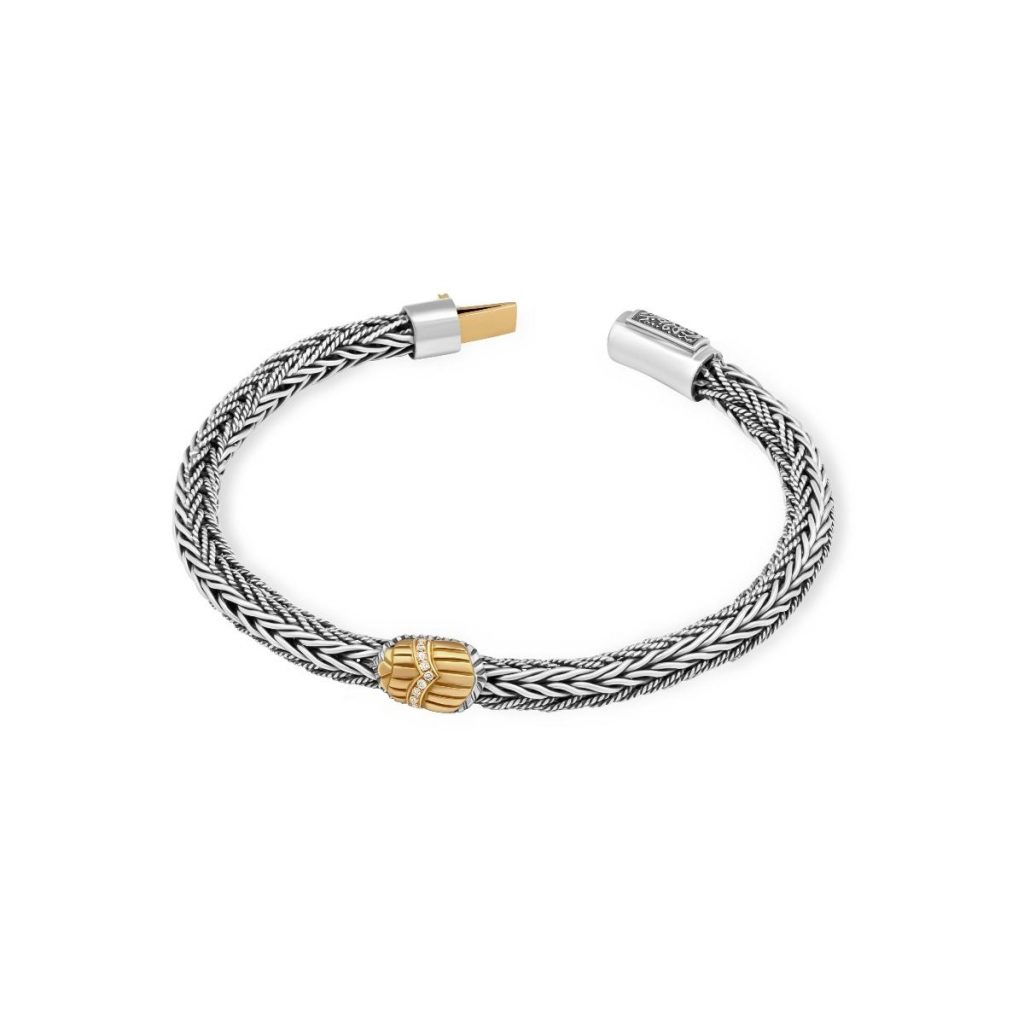 Braided Scarab Bracelet by Azza Fahmy