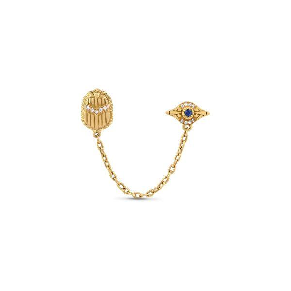 Multi-pierce Chain Earrings by Azza Fahmy