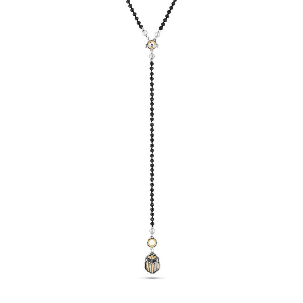 Multi-wear Scarab Necklace by Azza Fahmy